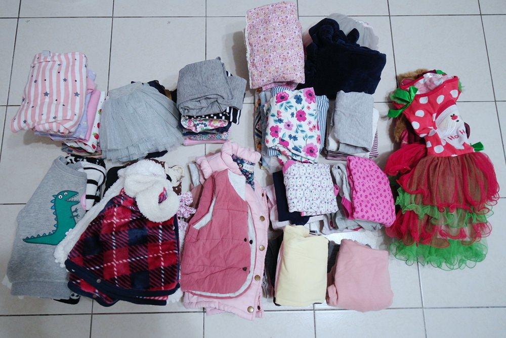 小孩衣服換季收納分享