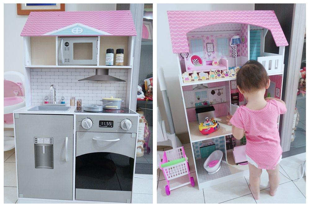 平價玩具廚房。Teamson Kids蜜糖甜心小主廚經典木製廚房組開箱