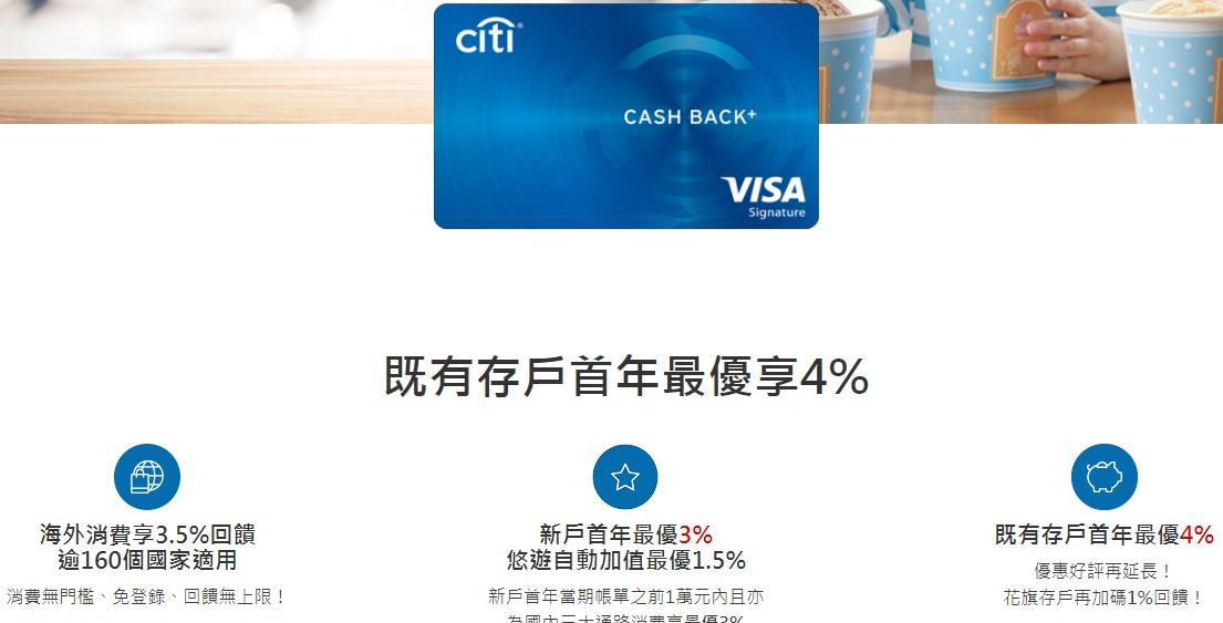 花旗現金回饋卡優惠整理 ▌2019現金回饋卡推薦。分享好友辦卡賺刷卡金