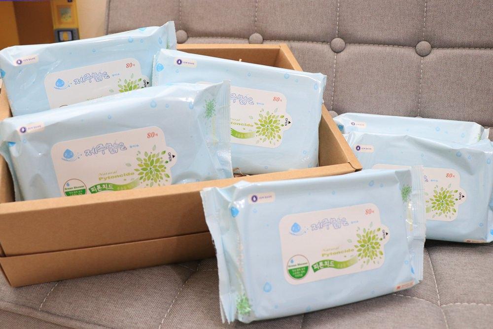 寶寶濕紙巾推薦。韓國製濟州純水嬰兒柔濕巾!Qoo10獨賣,不連抽的濕紙巾,3包88元還免運