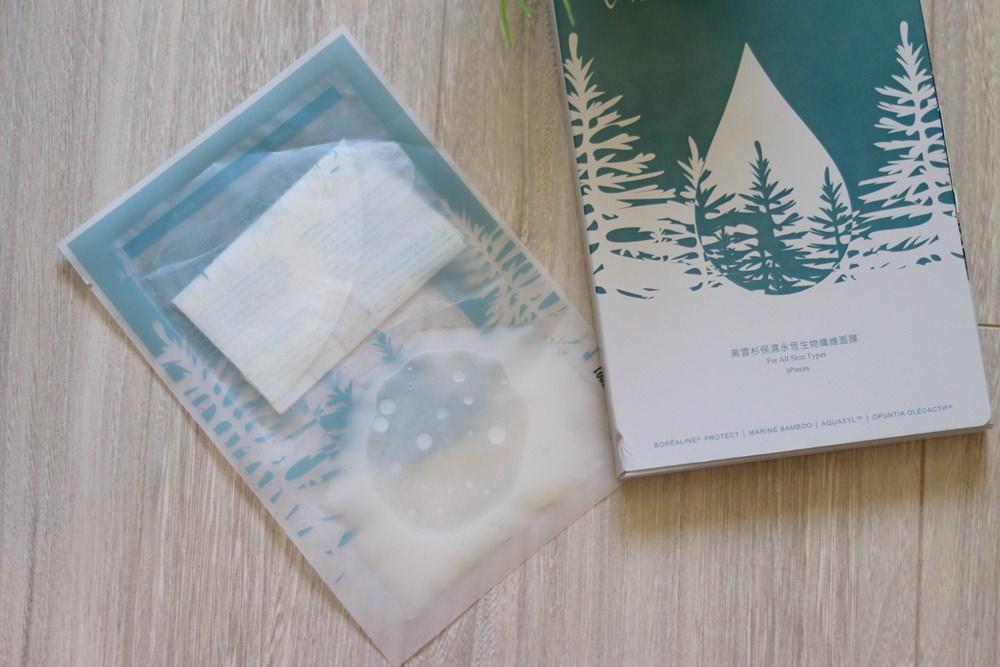 媽媽保濕面膜推薦-時間寵愛 黑雲杉保濕永恆生物纖維面膜 ▋乾濕分離式包裝,保濕服貼