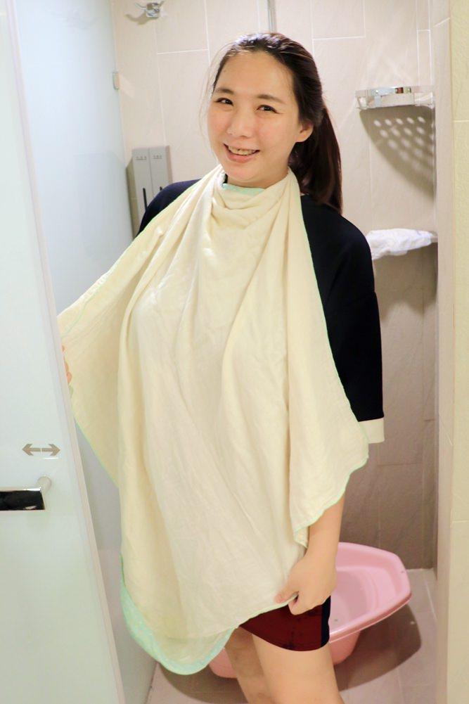 Nizio小蘑菇浴巾,一條多用途,可當浴巾、浴袍、包巾▋包裝精美,可以當彌月禮