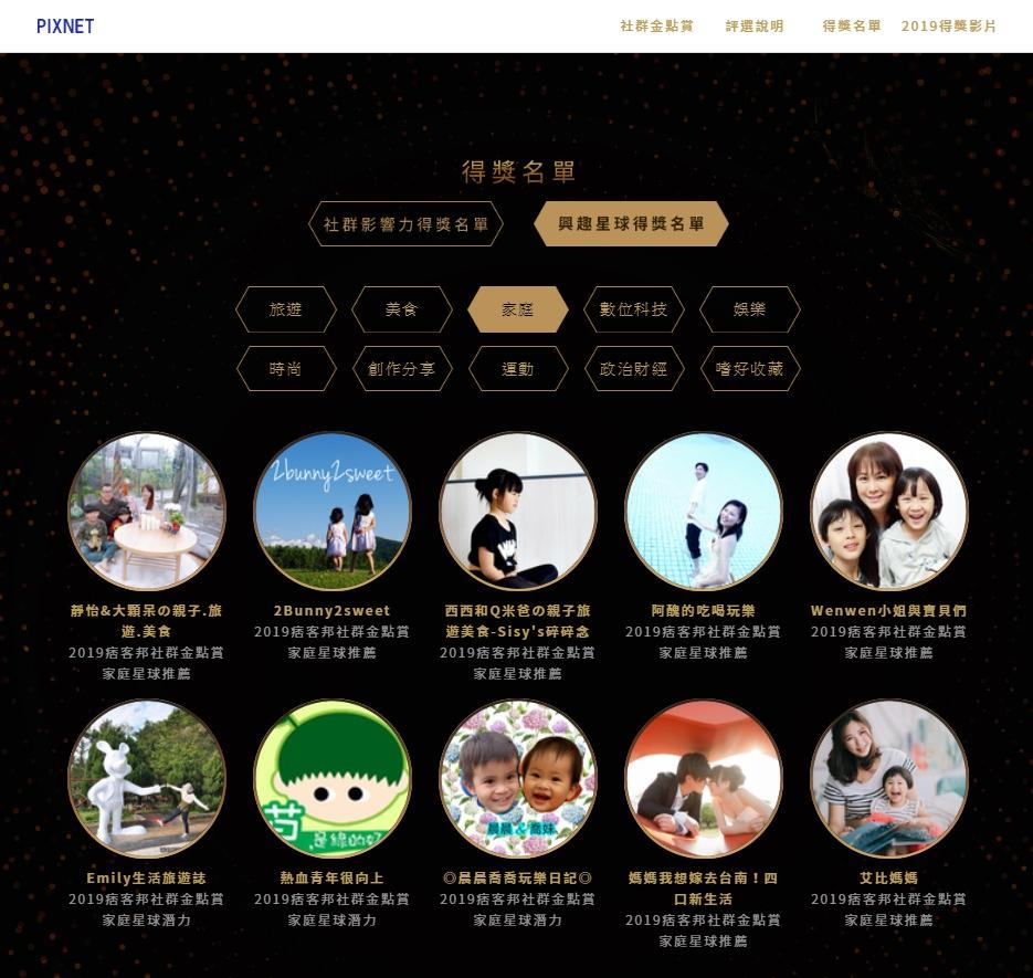 艾比得獎啦!PIXstar Awards 2019痞客邦社群金點賞家庭星球推薦