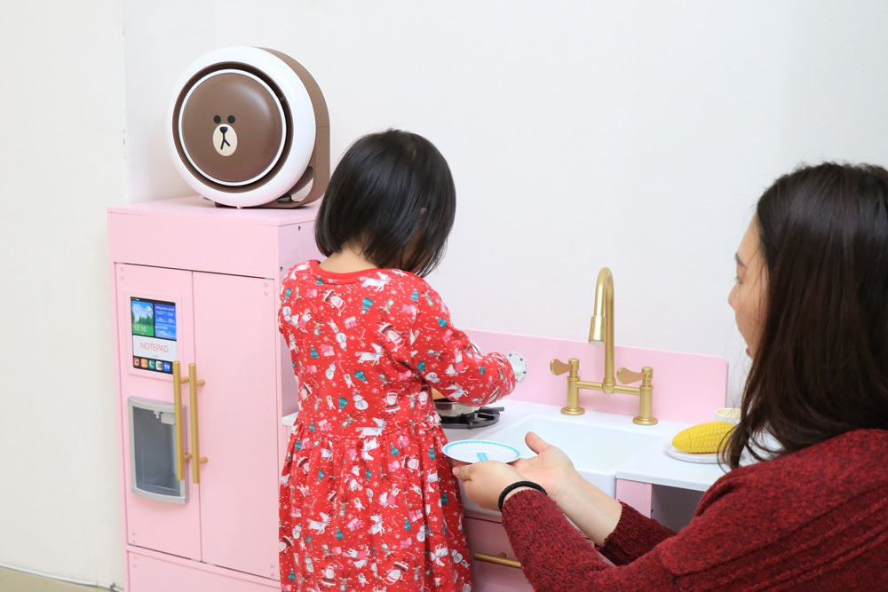 在Qoo10便宜買小漢堡 health banco ▋LINEFRIENDS 熊大空氣清淨機開箱分享