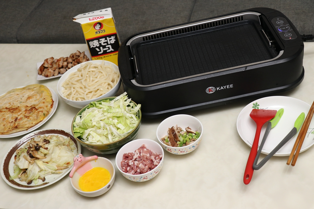 KAYEE美國熱銷觸控式吸煙油切電烤盤。少油煙,主婦媽媽廚房新選擇 @艾比媽媽