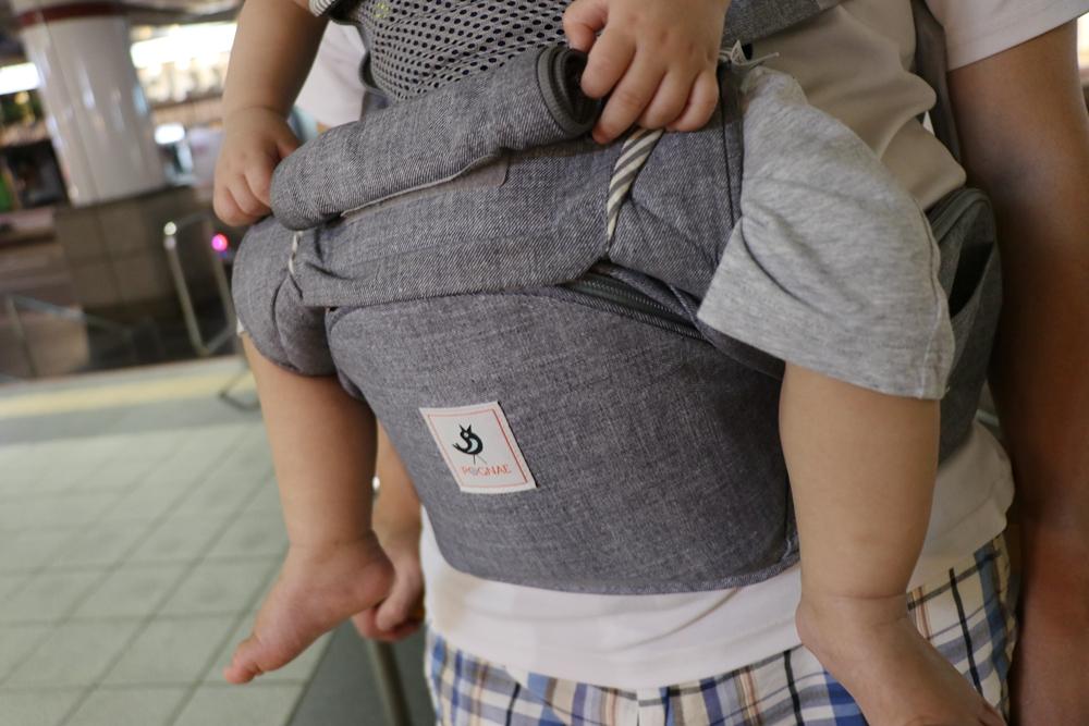 嬰兒揹巾推薦-韓國POGNAE NO.5+揹巾。單手好操作,可換成腰等揹巾,很多用!