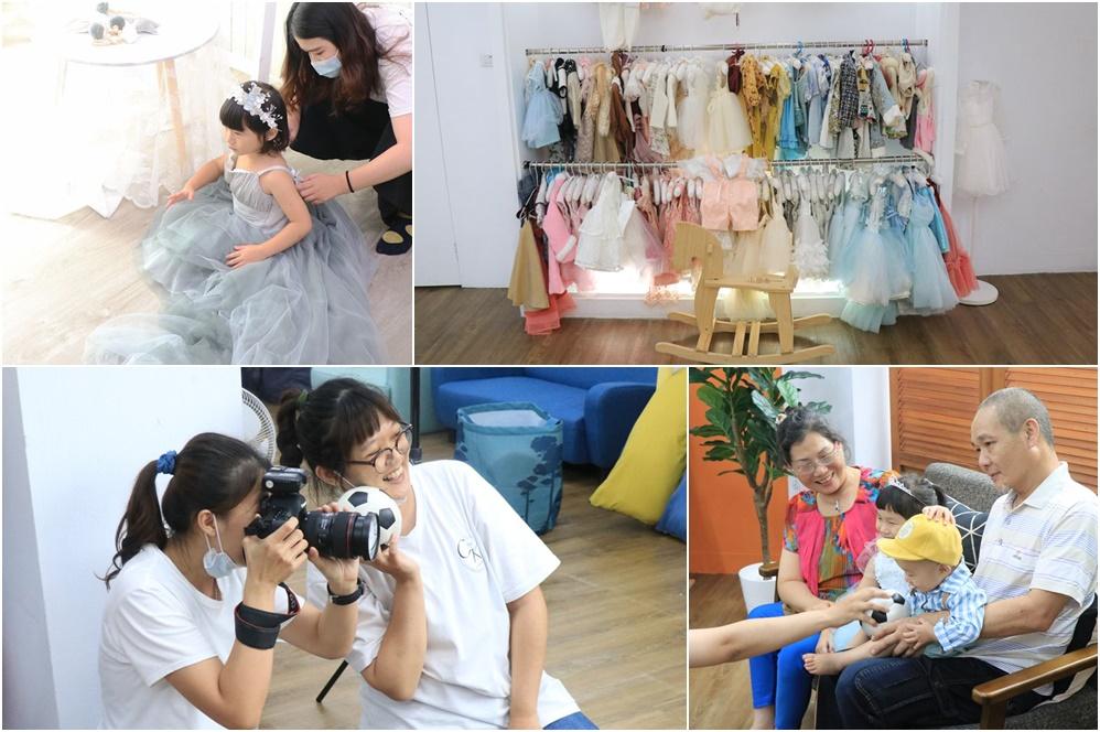 台北台中寶寶拍攝推薦-小詩琦映像館。君尚一歲生日全家福,滿週歲紀念照(週歲寫真) @艾比媽媽