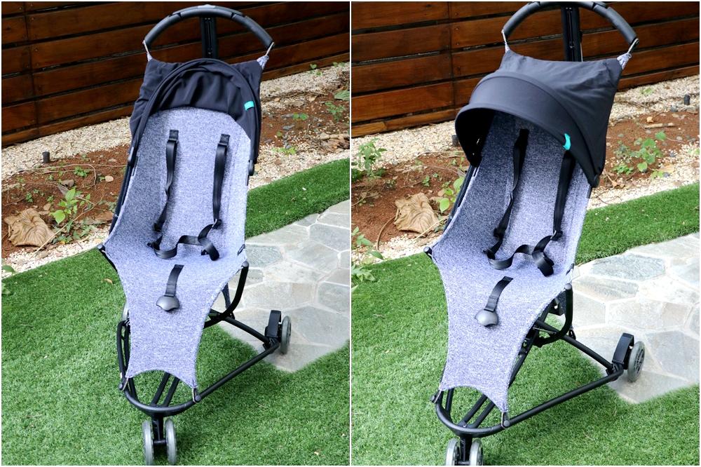 輕量推車開箱-Quinny YEZZ AIR 空氣感背包輕便推車。透氣網布,輪子超咕溜