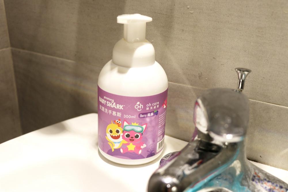 小孩刷牙噴霧漱口水推薦歐克威爾ohcare。聯名新朋友BabyShark鯊魚寶寶碰碰狐