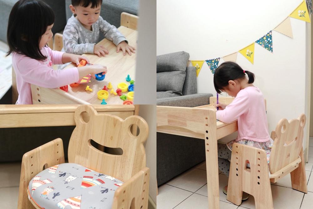 環安傢俱-幼兒成長桌椅推薦,一張能用到小學的桌椅 @艾比媽媽
