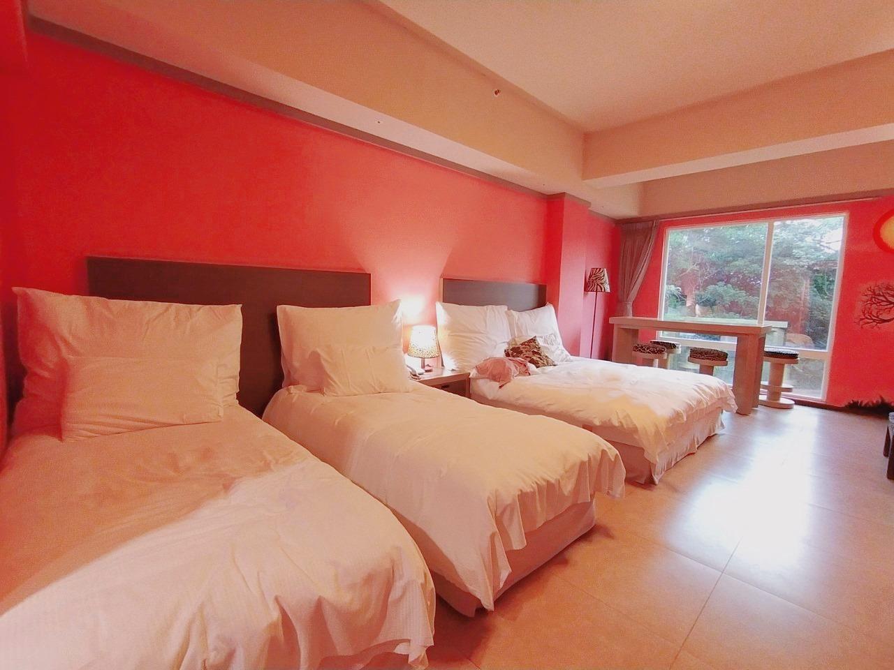 新竹六福莊住宿分享-剛果藍天房。沒有住最貴房間也能看到長頸鹿